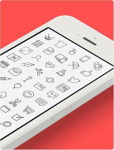 iOS 7 vector line icons