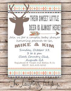 Deer baby shower Hunting shower Deer shower by TheLaughingLadybug, $15.00 @Jessi Crawford