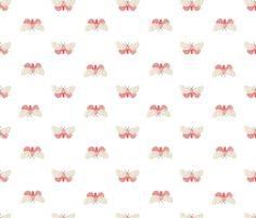 Pink Moth  fabric by valerinick_ on Spoonflower - custom fabric