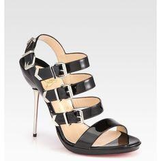16e703460 Christian Louboutin Funky Patent Leather Platform Sandals ( 1