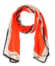 Mary Katrantzou Orange Border Multi Shawl