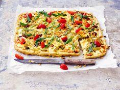 Välimeren kasvispiirakka | Valio Vegetable Pizza, Quiche, Healthy Recipes, Healthy Food, Cooking, Breakfast, Pastries, Foods, Lifestyle