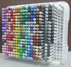 I want some sort of Copic storage. Box of Colours: Copic Storage Art Supplies Storage, Craft Room Storage, Craft Supplies, Craft Rooms, Organizing Art Supplies, Easy Storage, Storage Bins, Scrapbook Organization, Craft Organization