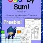 Having a Snow Day so I thought I would make a quick Freebie!  5 Print and Go Worksheets to practice Addition problems within 10. My students say th...