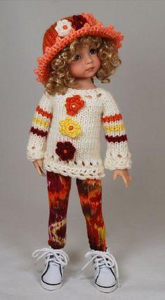 Одежда для кукол вязаная #GlitterGirl