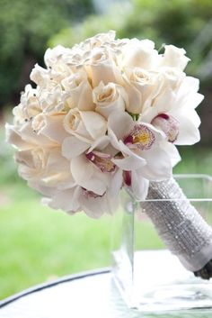 Roses & Orchids Biedermeier Bouquet
