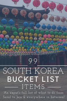 The local's perspective on what to do in South Korea, from wandering around Seoul in traditional clothing to walking through lava tubes and lavender fields on each coast. | #south #korea #travel #things #to #do #must #try #foods #adventure #gangwon #seoul #jeju #busan #expat #bucket #list #asia #unique #best