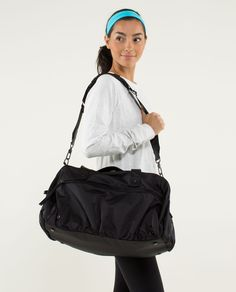 @Christine Norman This is the gym bag I was telling you about... I would like the white one though I think, not the black. :)
