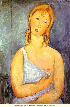Amedeo Modigliani. Girl in a White Chemise. Olga's Gallery.