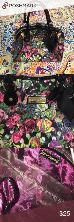 Betsey Johnson Purse Betsey Johnson Over the Shoulder Purse! In perfect condition. Beautiful floral design perfect for Spring Time! Betsey Johnson Bags Shoulder Bags
