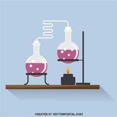 Chemical laboratory vector clip art.