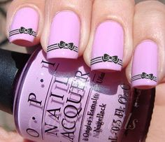 Nail Wrap Art Decals For Acrylic False Black Bow $6.99 for 20 stickers