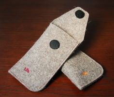 Natural Gray Felt Eyeglass Cases by TheFeltStore on Etsy, $19.50