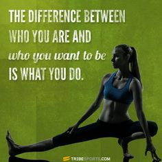 The difference between who you are and who you want to be is what you do. #motivation #inspiration #quote