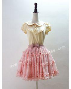 Sweet Juicy Peach Round Dots Lolita Underskirt   #Lolita  #Underskirt