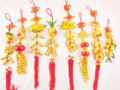 Chinese Good Luck & Good Fortune Charms/Tassels.
