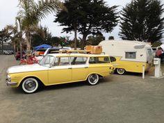 Rambler and Shasta! Vintage Rv, Vintage Caravans, Vintage Travel Trailers, Vintage Trucks, Shasta Trailer, Shasta Camper, Car Camper, Old Campers, Retro Campers
