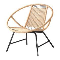 GAGNET Lepotuoli IKEA Käsin tehty. Jokaisen tuolin pyöreät muodot ja kauniit yksityiskohdat ovat yksilöllisiä. Muovijalat eivät naarmuta lattiaa.