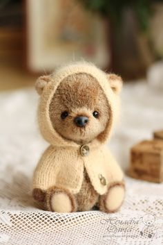 Teddy Bears handmade. Funtik. Olga Nechaev. Arts and crafts fair. handmade teddy bear, teddy bear, shplintovoe connection