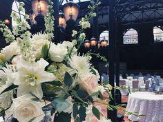 White Wedding Centerpiece @ St. John's :: The Vines Flower & Garden Shop