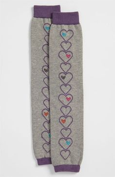 Nordstrom 'Linear Hearts' Leg Warmers (Girls) available at #Nordstrom