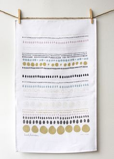 Dots Linen tea towel by leahduncan on Etsy