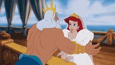 Best Disney hugs | When King Triton finally lets Ariel choose her own destiny.