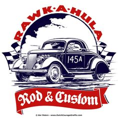 1936 Ford custom rod #hotrod #hot #rod #Bonneville #Ford #coupe #vintage #artwork #Tshirt #design