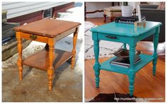 Number Fifty-Three: Patina Green Glam End Table