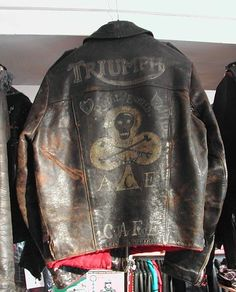 Incredible Vintage Triumph Leather Jacket - All About Triumph Leather Jacket, Vintage Leather Jacket, Motorcycle Leather, Biker Leather, Motorcycle Style, Biker Style, Leather Men, Leather Jackets, Leather Coats