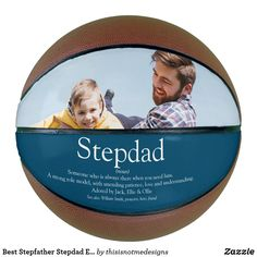 Best Stepfather Stepdad Ever Definition Photo Blue Basketball Stepdad Fathers Day Gifts, Gifts For Father, New Daddy, Photo Blue, Sticker Shop, Kids Learning, Definitions, Party Supplies, How To Memorize Things