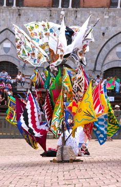 Siena palio flags