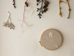 Pretty embroidery by Ana Ventura. $45 #embroidery #wall_decor #nature