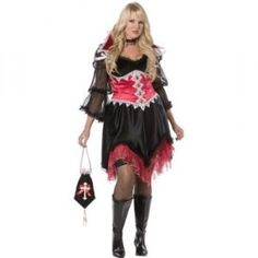 Vampira Plus Size Costume - Halloween Plus Size Costumes For Women