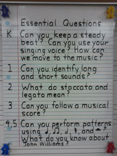 ♫ We ❤ Music @ HSES! Essential Questions