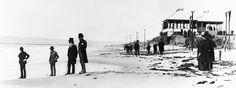 Elisha Babcock and Hampton Story surveying Coronado Beach, c. 1886. The two men who built Hotel delCoronado