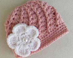 Baby Girl Crochet Hat by BlueDandelionCrochet on Etsy