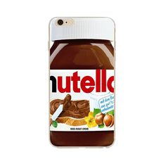 Iphone case with super cute Nutella print. Protects the phone from scratches and dust. Made from durable high quality clear plastic. Provides maximum protection for you iPhone.