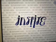 Ambigram tattoo inspire/believe