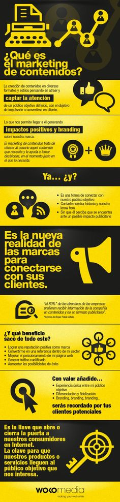 Qué es marketing de contenidos #infografia #infographic #marketing