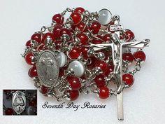 Divine Mercy of Jesus Saint Faustina Red by SeventhDayRosaries