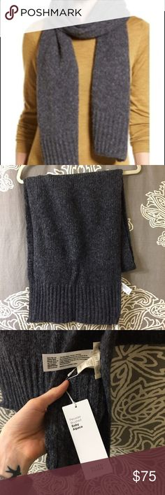 Eileen Fisher alpaca scarf Eileen Fisher alpaca scarf. Gray. Super warm and cozy! Never worn and tags still attached. Eileen Fisher Accessories Scarves & Wraps