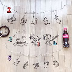 Wire Crafts, Wire Art, Metallica, Wire Wrapping, Garland, Flag, Snoopy, Kawaii, Handmade