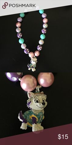 ⭐️SALE⭐️Everest paw patrol bubblegum necklace Handmade, high quality children's chunky bubblegum necklace. Use it for a photoshop or simply to dress up your little ones outfit! Paw patrol Accessories Jewelry