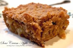 Cooking With Mary and Friends: Sour Cream Apple Coffee Cake with Crumble Topping