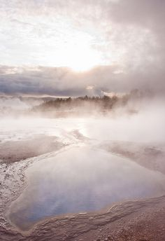 The original Geysir in Iceland. Nearby, Strókkur still erupts about every 8 minutes.