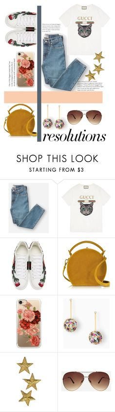 """""""#PolyPresents: New Year's Resolutions"""" by jazz-man ❤ liked on Polyvore featuring Everlane, Gucci, Bertoni, Casetify, Stella & Dot, Ashley Stewart, contestentry and polyPresents"""