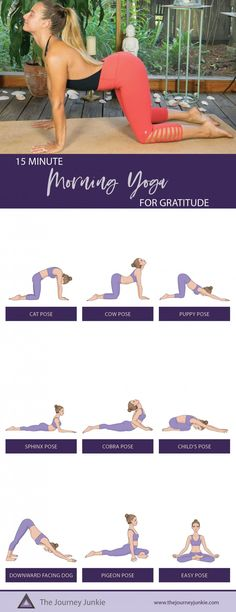 Nov 2019 - Start your day with a morning yoga practice that focuses on gratitude! You can expect to awaken your senses, infusing gratitude for your day ahead! The Journey, Namaste, Bohemian Style Home, Puppy Pose, Morning Yoga Routine, Cow Pose, Pilates Workout, Yoga Workouts, Pilates Yoga