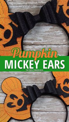 How To Make Pumpkin Mickey Ears! No-Sew Tutorial! - - These Pumpkin Mickey Ears will have everyone envious at Halloween! If you love Mickey Ears at the Disney Parks and have always wanted to make your own pair, then this tutorial is for YOU! Diy Disney Ears, Disney Mickey Ears, Mickey Mouse Ears, Mickey Ears Diy, Disney Parks, Disney Pixar, Disney Princess Crafts, Disney Crafts For Kids, Design Set