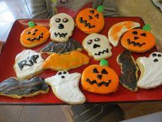 Sugar Cookie Recipe, Hard Frosting Recipe, Halloween Cooking, Christmas Cookies
